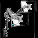 Настольный кронштейн-газлифт для двух мониторов ONKRON G140 чёрный