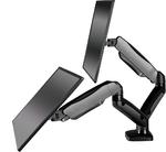 Настольный кронштейн-газлифт для двух мониторов ONKRON G160 чёрный