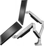 Настольный кронштейн-газлифт для двух мониторов ONKRON G200 серый