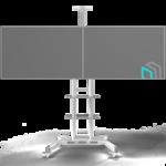 """ONKRON TS1881DV белая,стойка для двух телевизоров с кронштейном 40""""-65"""" мобильная"""