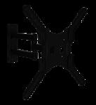 Кронштейн наклонно-поворотный для ТВ MasterKron PLA17-443